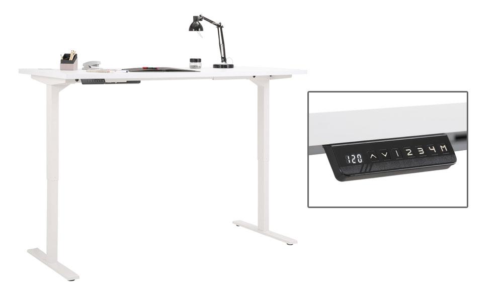 schreibtisch elektrisch h henverstellbar 68032. Black Bedroom Furniture Sets. Home Design Ideas